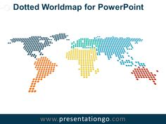 Dotted World Map PowerPoint PresentationGOcom Dark backgrounds