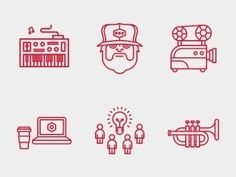 Graphic Design // Icons on Designspiration