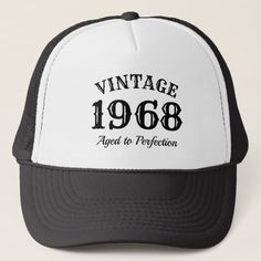 76a4616eb4275 Vintage 1968 trucker hat for men s 50th Birthday 40th Birthday Parties