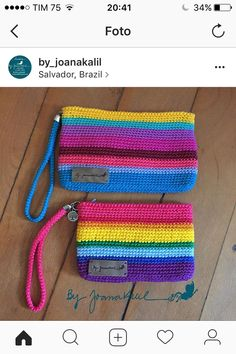 How to Crochet Mobile Cell Phone Pouch for iPhone Samsung - Crochet Ideas Crochet Clutch Bags, Crochet Handbags, Crochet Purses, Crochet Pencil Case, Crochet Pouch, Crochet Keychain Pattern, Crochet Purse Patterns, Crochet Phone Cover, Hello Kitty Crochet