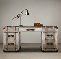 Trendy Home Office Industrial Style Restoration Hardware Ideas Restoration Hardware, Furniture Restoration, Metal Patio Furniture, Industrial Furniture, Furniture Design, Funky Furniture, Office Furniture, Industrial Office, Industrial Style