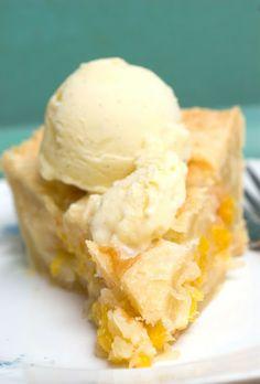 Peach Cobbler Pie !