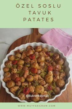 Özel Soslu Tavuk Patates Sprouts, Vegetables, Recipes, Food, Little Cottages, Recipies, Essen, Vegetable Recipes, Meals