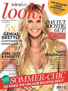 look! - das Magazin für Wien Jane Fonda, Magazines, Movies, Movie Posters, Gera, New Looks, Summer, Sandals, Journals