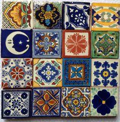Mexican Talavera Fridge Magnets 2x2  set of 3 by LilandJilDesigns, $12.00
