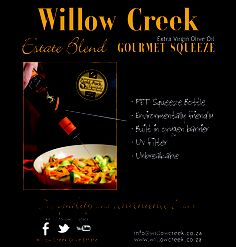 Willow Creek Gourmet Squeeze bottle filled with Estate Blend Extra Virgin Olive Oil. Willow Creek, Olive Tree, Olive Oil, African, Bottle, Food, Gourmet, Flask, Essen