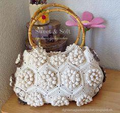 La Magia del Crochet: BOLSO SPRING con hexágonos Pop Corn
