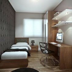 36 Awesome Modern Small Bedroom Design And Decor Ideas Small Bedroom Ideas Awesome Bedroom Decor Design Ideas Modern Small Apartment Bedroom Design, Bedroom Interior, Small Apartments, Luxurious Bedrooms, Apartment Bedroom Decor, Luxury Bedroom Furniture, Master Bedrooms Decor, Small Apartment Bedrooms, Apartment Decor