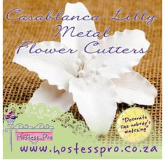 Casablanca lily Metal Flower Cutters  Buy Now Online www.hostesspro.co.za Follow up on Facebook https://www.facebook.com/hostesspro.co.za #‎siliconemoulds‬ ‪#‎cakedecorating‬ ‪#‎sugarcraft‬ ‪#‎hostessprosugarcraft‬