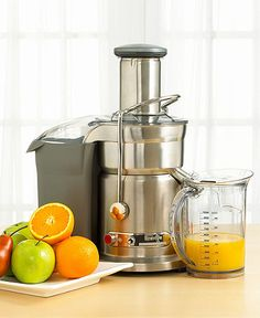 This year living a healthier lifestyle with Juicing.  Breville juicer 800JEXL
