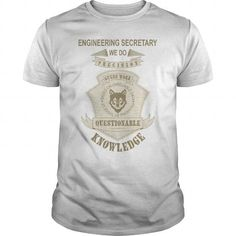 Cool ENGINEERING SECRETARY We Do Precision Guess Work T-Shirts #tee #tshirt #Job #ZodiacTshirt #Profession #Career #secretary