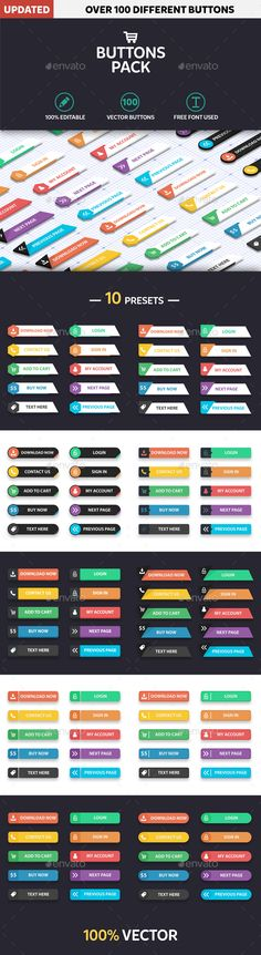 Web Button Modern Flat Design Template Vector EPS, Vector AI. Download here: http://graphicriver.net/item/web-button-modern-flat-design/14730456?s_rank=6&ref=yinkira