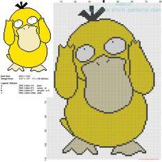 Psyduck Pokemon 054 patron punto de cruz                                                                                                                                                                                 Más