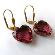 Hey, I found this really awesome Etsy listing at https://www.etsy.com/listing/36125145/vintage-pink-jewel-glass-heart-and-brass
