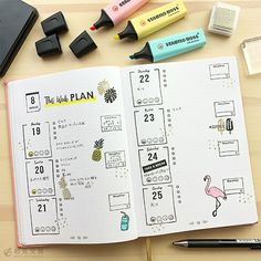 Stabilo Boss, Notebook, How To Plan, Bullet Journals, Instagram, Notebooks, Scrapbooking