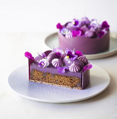 Enjoy Your Meal, How To Temper Chocolate, Natural Food Coloring, Blueberry Cake, Cocoa Butter, Tray Bakes, Cake Designs, Caramel, Bakery
