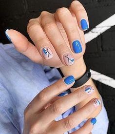 Stylish Nails, Trendy Nails, Cute Nails, Bright Nail Designs, Simple Nail Art Designs, Mens Nails, Diva Nails, Bright Nails, Luxury Nails