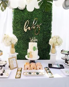 Modern Hawaiian Baby Shower on Kara's Party Ideas | KarasPartyIdeas.com (4) #decoracionbabyshower