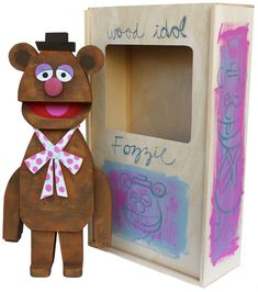 Fozzie - Wooden Muppet Idol Sculptures by Amanda Visell