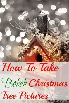 how to take bokeh Christmas tree pictures