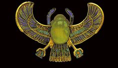 Ancient Egyptian/w/ Libyan desert glass scarab