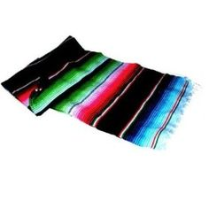 Large Authentic Mexican Blankets Colorful Serape Saltillo Blankets blue $28.99