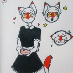 Devil Aesthetic, Country Art, Cat Ears, Cool Drawings, Russia, Kawaii, Cats, Anime, Fictional Characters