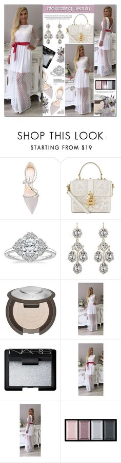 """""""DesirVale 26"""" by anyasdesigns ❤ liked on Polyvore featuring Jimmy Choo, Dolce&Gabbana, NARS Cosmetics, Clé de Peau Beauté and plus size dresses"""