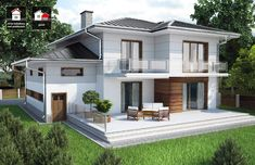 Projekt domu DTD PANAY CE – DOM – gotowy koszt budowy – Keep up with the times. Architecture Design, Modern Architecture House, Chinese Architecture, Futuristic Architecture, Cabin House Plans, Dream House Plans, Cool House Designs, Modern House Design, House Construction Plan