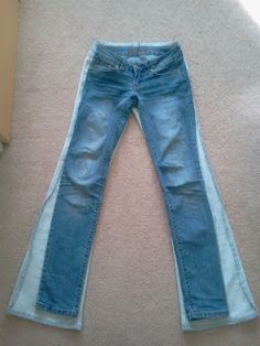 The Lazy Girl's DIY: From Flared to Skinnies: DIY Skinny Jeans