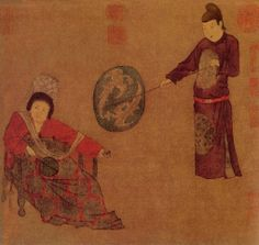 .Zhou Fang. Court Lady with Servants (or Court Ladies Wielding Fans). Palace Museum, Beijing.