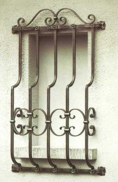 wrought iron window grills wholesale | The Iron Works of Newark. Gates, Railings, Security Grilles and much ...