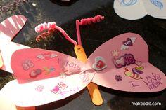 Valentine's Butterfly Kids Craft