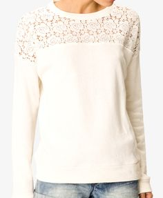 Lacey pullover