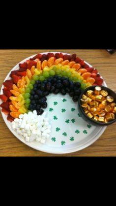 St. Patrick's Day snack. Great idea!!