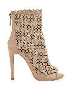 PRADA Perforated Suede Ankle Boot