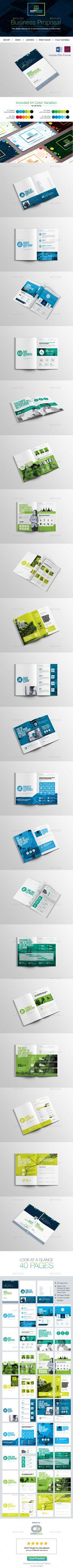 Proposal Template Vector EPS, InDesign INDD, AI Illustrator #design Download: http://graphicriver.net/item/proposal/14488550?ref=ksioks