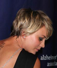 ... Kaley Cuoco Short Straight Hairstyle - Dark Blonde - side view 2