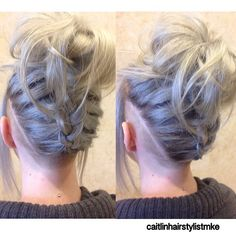 Cool Braid & Bun With Small 360 Undercut Thanks @caitlinhairstylistmke…