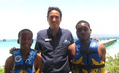 Our friendly manager Alejandro at Dolphin Discovery Anguilla welcoming our new friends    http://www.dolphindiscovery.com/anguilla/anguilla-location-overview.asp