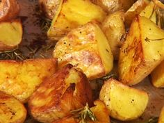 Crunchy Roasted Rosemary Potatoes recipe from Tyler Florence via Food Network