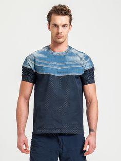 KOLOR , Old School Lacivert T-shirt  #shopigo#shopigono17#menswear#ss15#readytowear