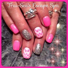 Bright Pink Chevrons by TraiSeasEscape - Nail Art Gallery nailartgallery.nailsmag.com by Nails Magazine www.nailsmag.com #nailart