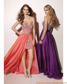 Sexy elegantes Abendkleid aus Satin Bodenlang A-Linie Herz-Ausschnitt Trägerlos
