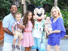 Star Tracks: Tuesday, July 28, 2015 | ON ISLAND TIME | Alfonso Ribeiro and his beautiful family – wife Angela, son Alfonso Jr., 2, daughter Sienna, 12, and 3-month-old Anders – snap a pic with Mickey on Sunday at one of the happiest places on Earth, the Aulani Disney resort in Hawaii.