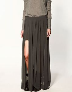 long skirt with splits - Zara