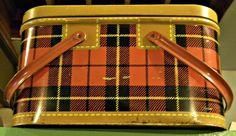 Cathouse Antiques - tin picnic basket