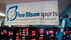 Bluebisonsports does lacrosse, rugby, and field hockey too.