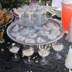 taças de iogurte