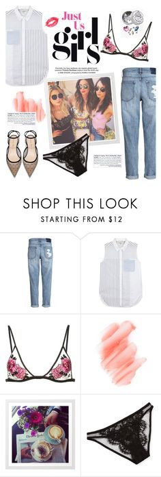 """""""Cause girls just want to have fun"""" by icyhot ❤ liked on Polyvore featuring H&M, 3.1 Phillip Lim, Fleur du Mal, Birchrose + Co., I.D. SARRIERI, Boohoo, contest, ootd and prettyunderpinnings"""